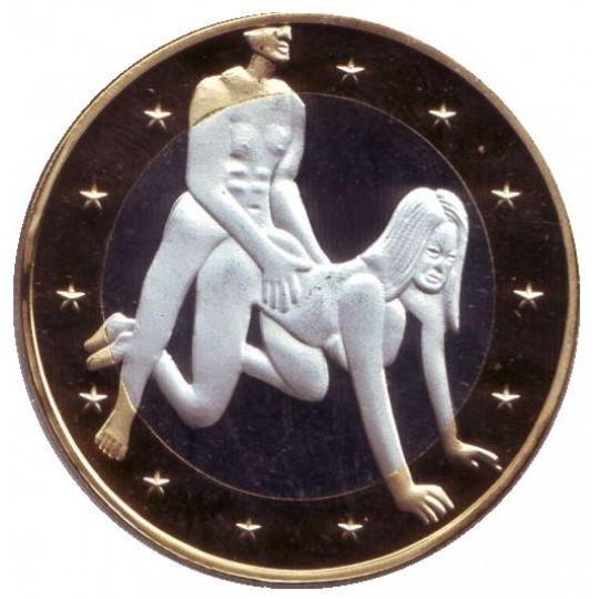 6 эросов (Sex euros). Сувенирный жетон. (Вар. 5)