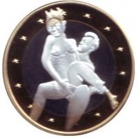 6 эросов (Sex euros). Сувенирный жетон. (Вар. 7)