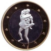 6 эросов (Sex euros). Сувенирный жетон. (Вар. 8)