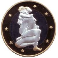 6 эросов (Sex euros). Сувенирный жетон. (Вар. 10)