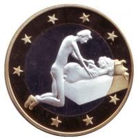 6 эросов (Sex euros). Сувенирный жетон. (Вар. 11)