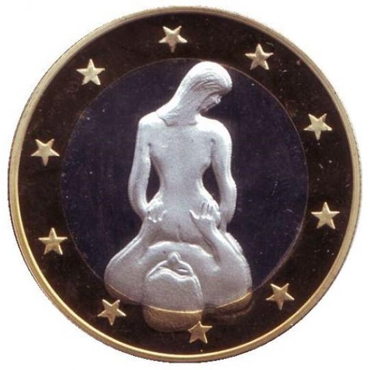 6 эросов (Sex euros). Сувенирный жетон. (Вар. 18)