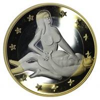 6 эросов (Sex euros). Сувенирный жетон. (Вар. 21)