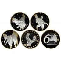 Набор монет. 6 Sex Euros. (4 шт.) Выпуск 1