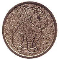 Год кролика. Лунный календарь. Сувенирный жетон, СПМД, Россия.