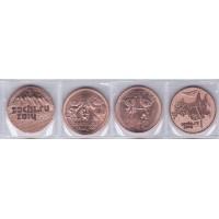 Набор памятных 25-рублевых монет СОЧИ-2014 (4 шт. бронза)