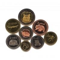 Чеченская республика-Ичкерия, набор из 8 монет (редкий)