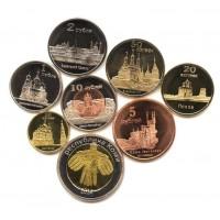 Республика Коми 2014, набор из 8 монет