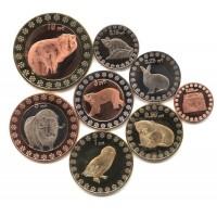 Северный полюс 2014, набор из 8 монет