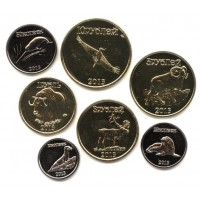 Саха-Якутия, набор  из 7 монет 2013 года